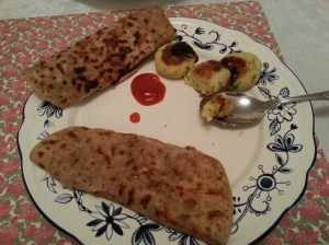 Nothing much to eat aloo parathas with? Improvise!