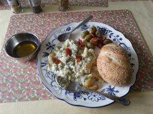 Substantial, but not gargantuan, lunch.